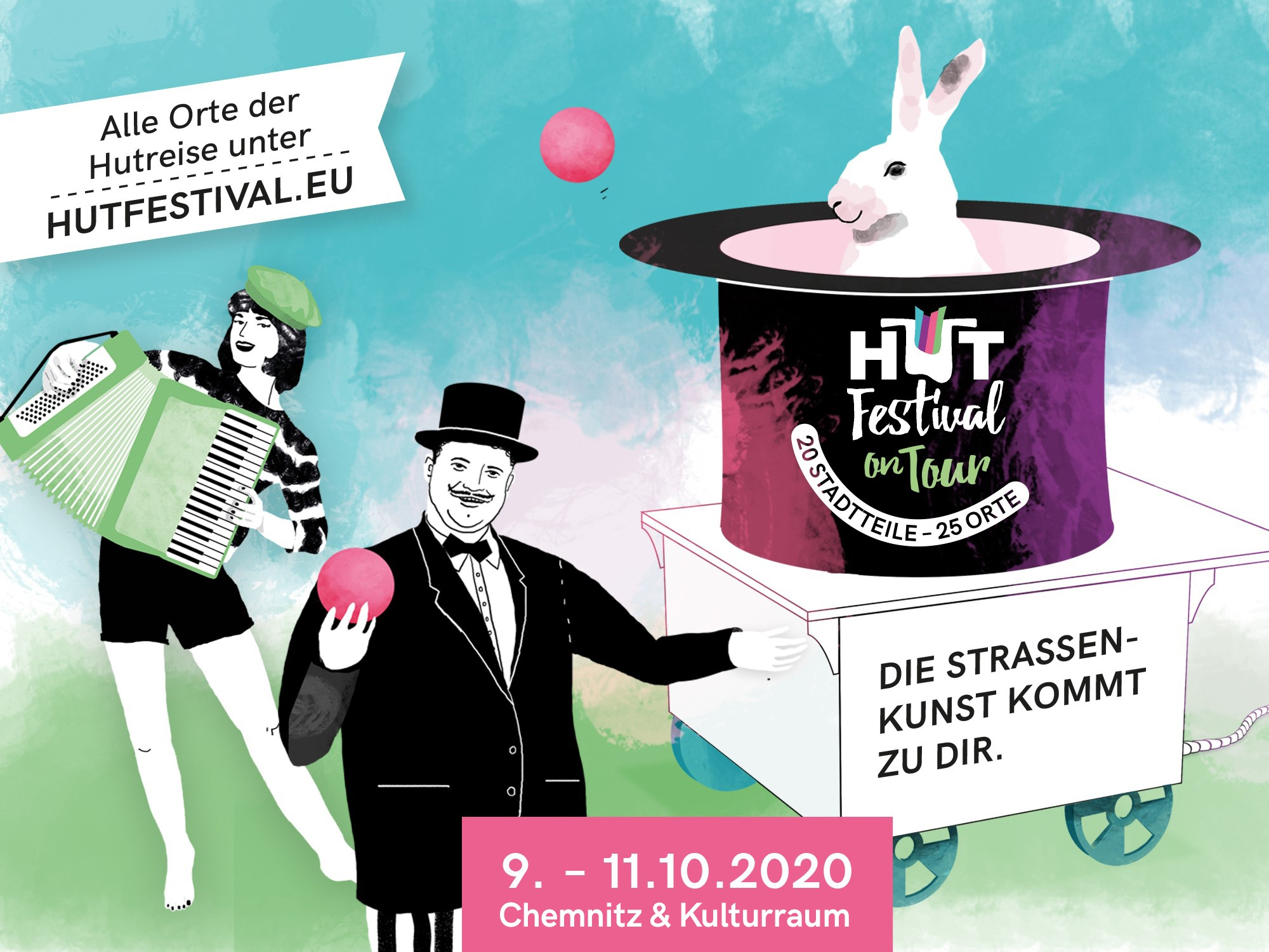 Hutfestival on Tour in Chemnitz und Kulturraum